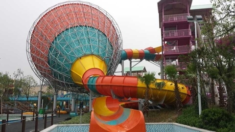 Medium Tornado, Fiberglass Water Slide, Water Park Equipment