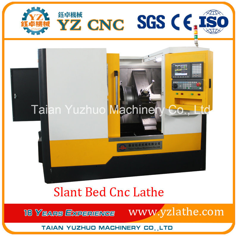 Inclined Guide Rail 3 Axis Wheel Slant Bed CNC Lathe Machine