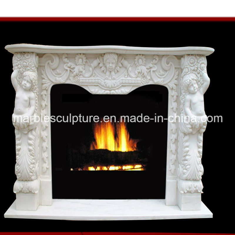Natural Marble Fireplace Surround (SY-MF028) pictures & photos