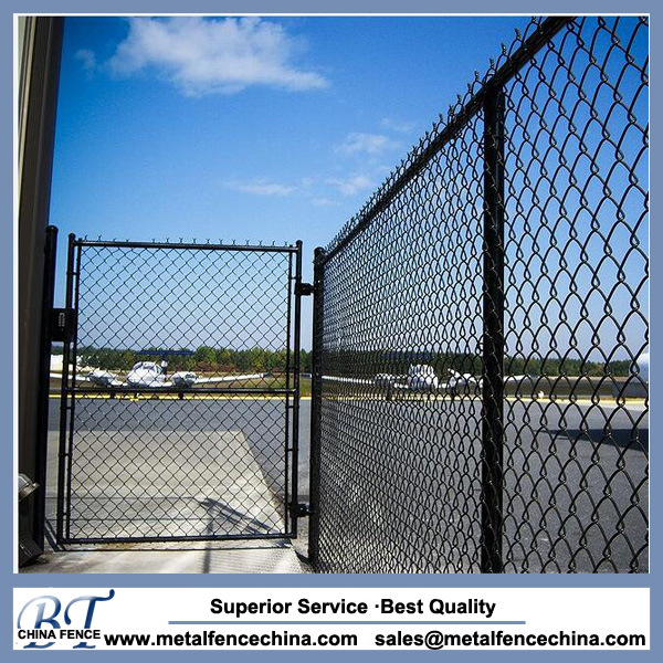 China Install Black PVC Coated Chain Link Fencing - China Security ...