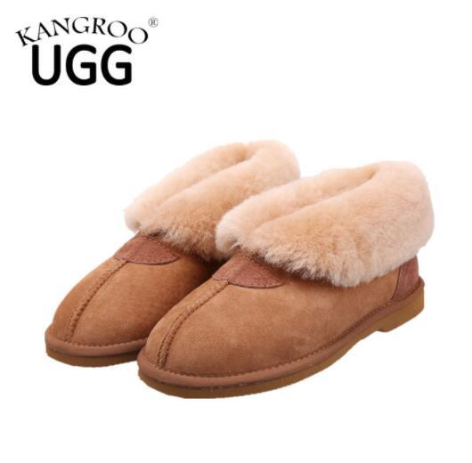 Australian Double Face Sheepskin Shoes Slippers Indoor Shoes