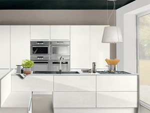 Quality Guaranteed Modern Simple White Lacquer Finish Kitchen Cabinets pictures & photos