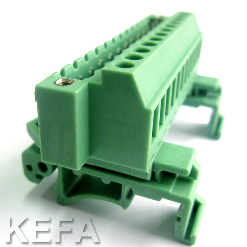 Plugable Terminal Block Connector with DIN Rail for Wire to Wire Connection pictures & photos