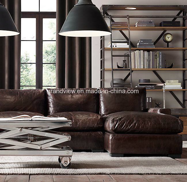 China 2018 Luxury Chesterfield Style Corner Sofa With Chaise Longue