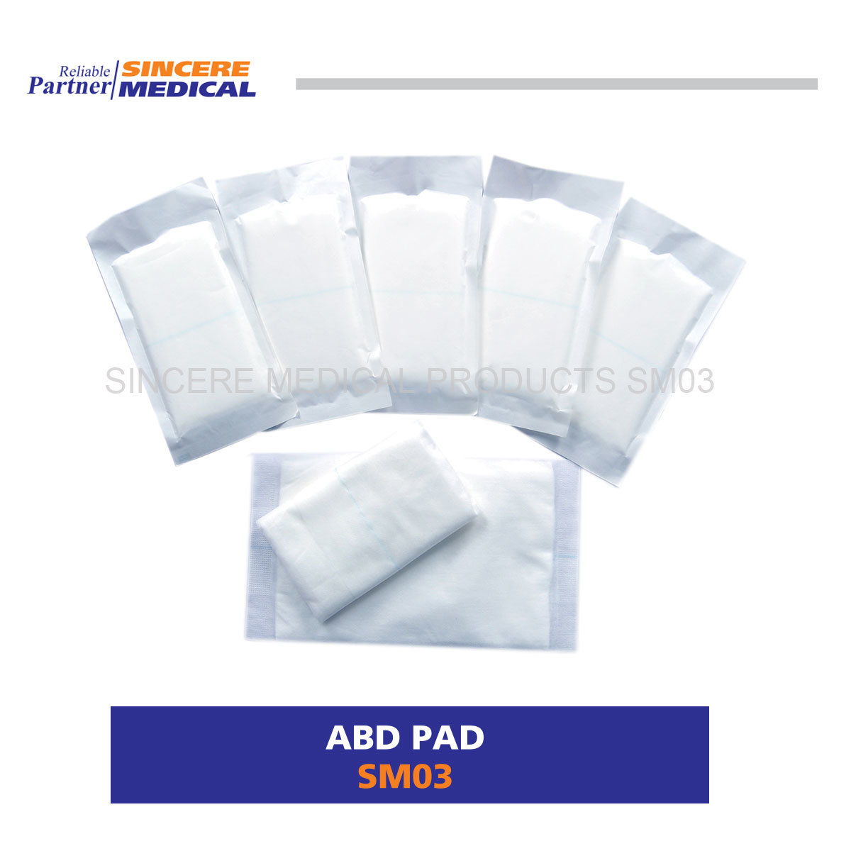 China Wound Dressing Highly Obsorbent Abd Pad SM03