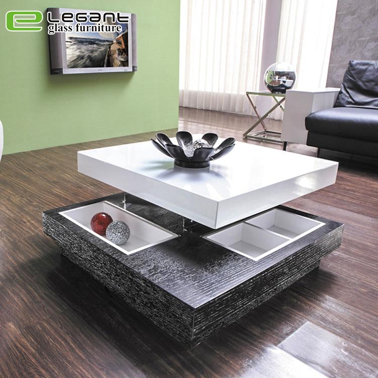 China Modern High Gloss Square White Glass Coffee Table China Coffee Tables Tables