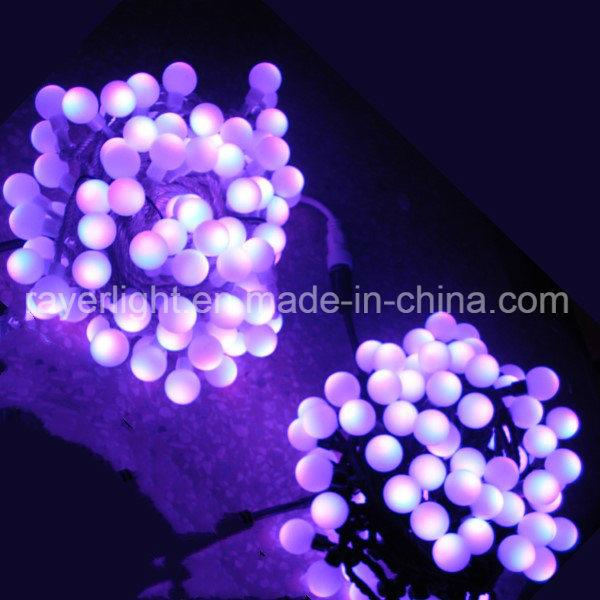 [Hot Item] Ball String Lighting Chain RGB Lights Color Changing Christmas  String
