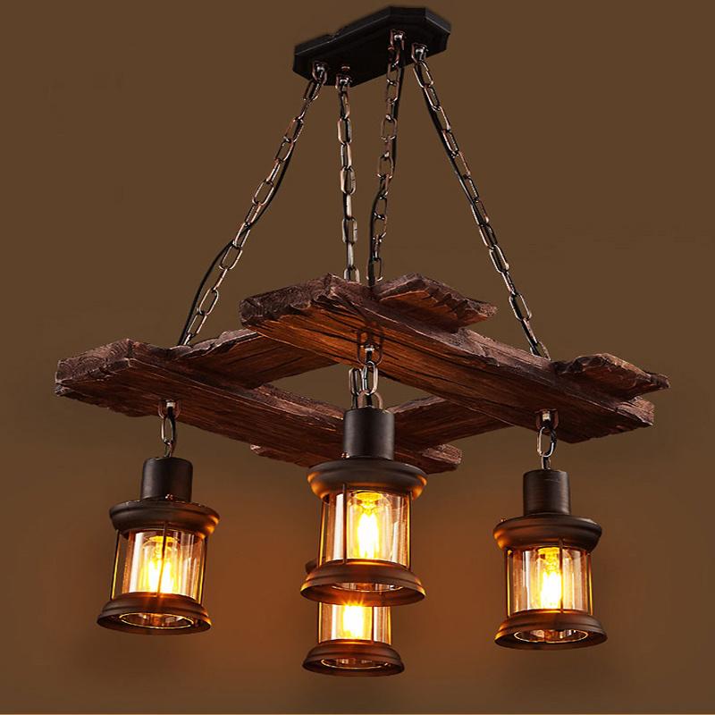 Wood For Indoor Chandelier Lamp