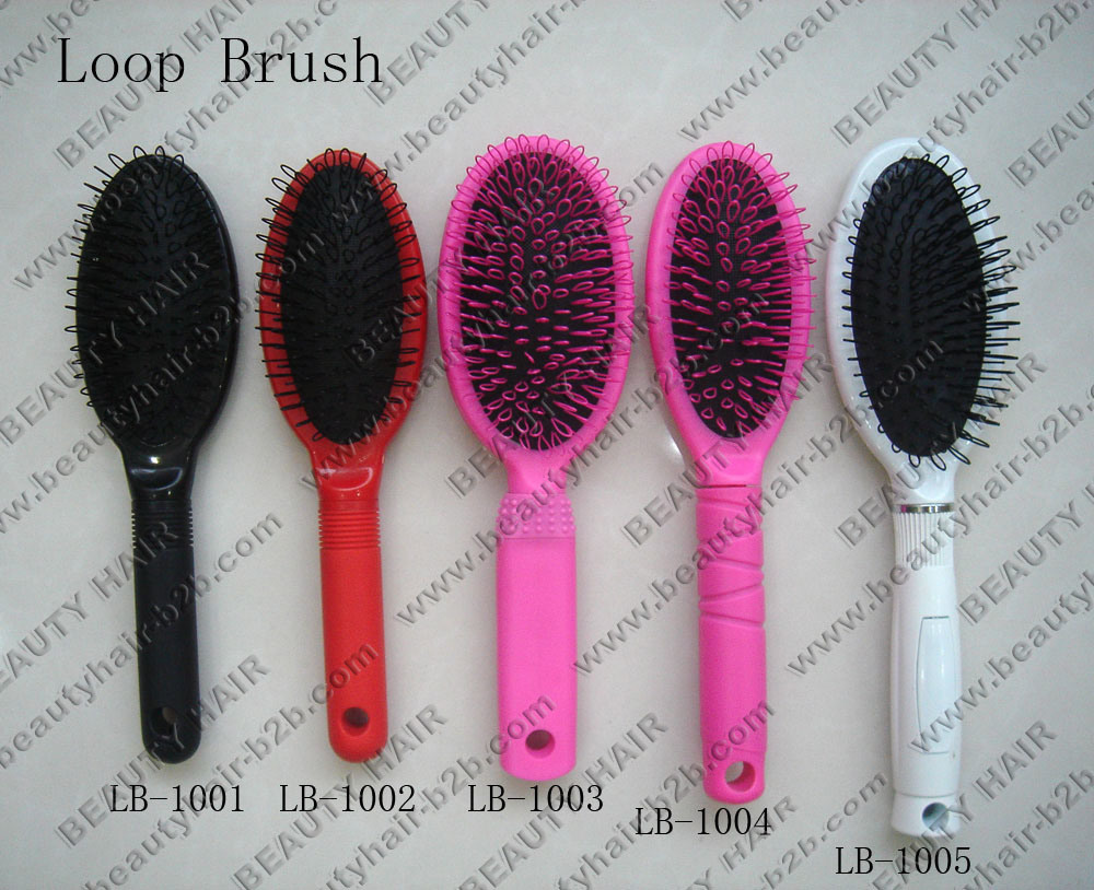 China Hair Extension Closed Loop Nylon Bristle Oval Hair Brush