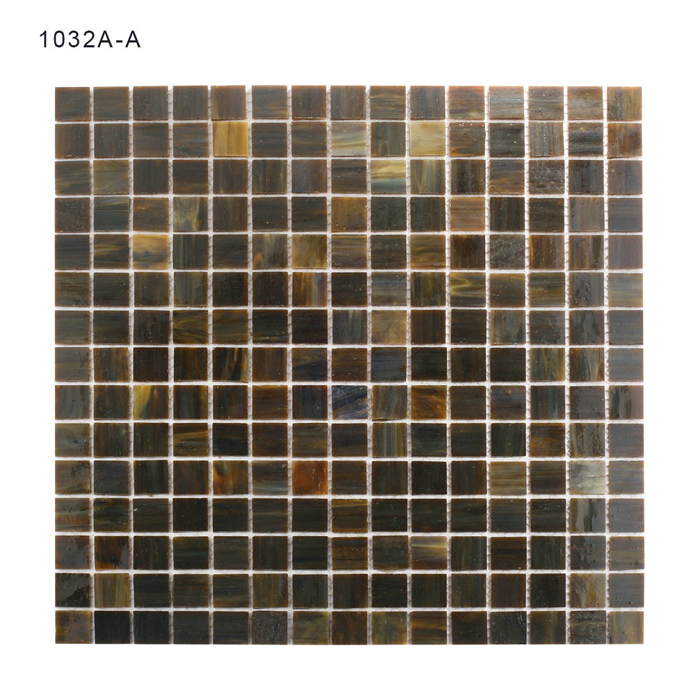 Eco-Friendly Material Black Bathrooms Square Glass Mosaic Tiles pictures & photos