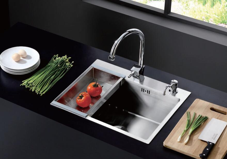 China Germany Coso 3mm Handmade 304 Stailess Steel Kitchen Sink ...