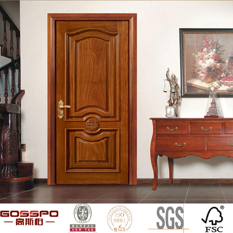 China hand carved bedroom decorative interior door design