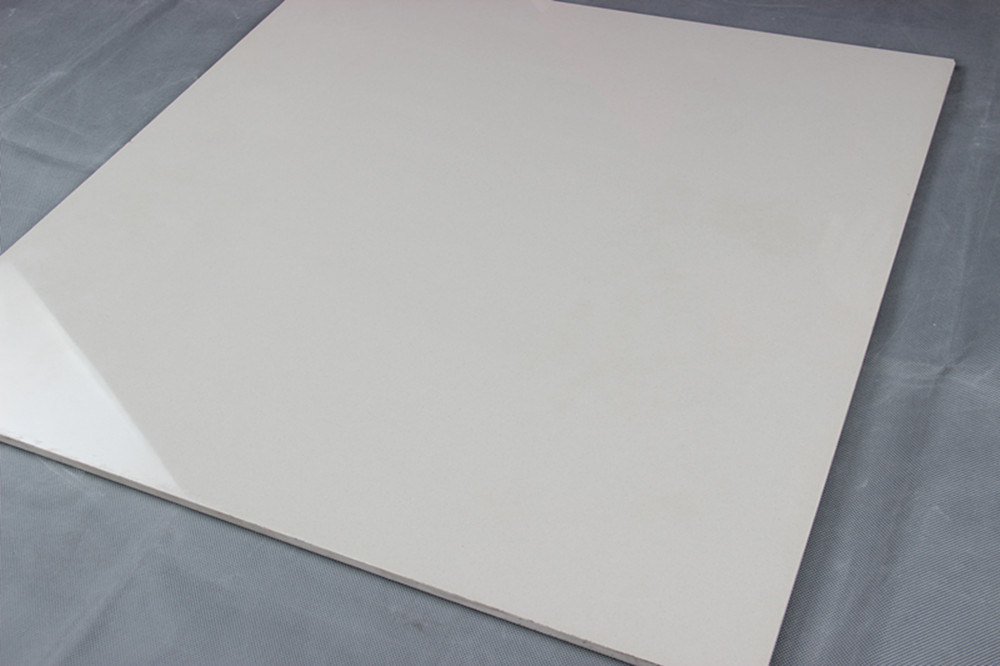 600x600mm Ceramic Ivory White Soluble Salt Polished Porcelain Floor Tile