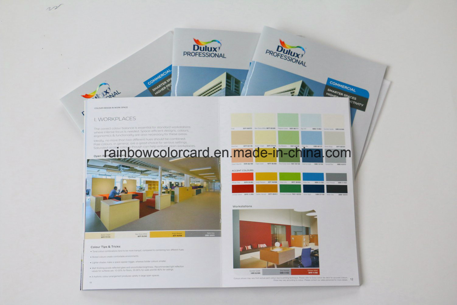 Customized Color Card Brochure with Spot UV