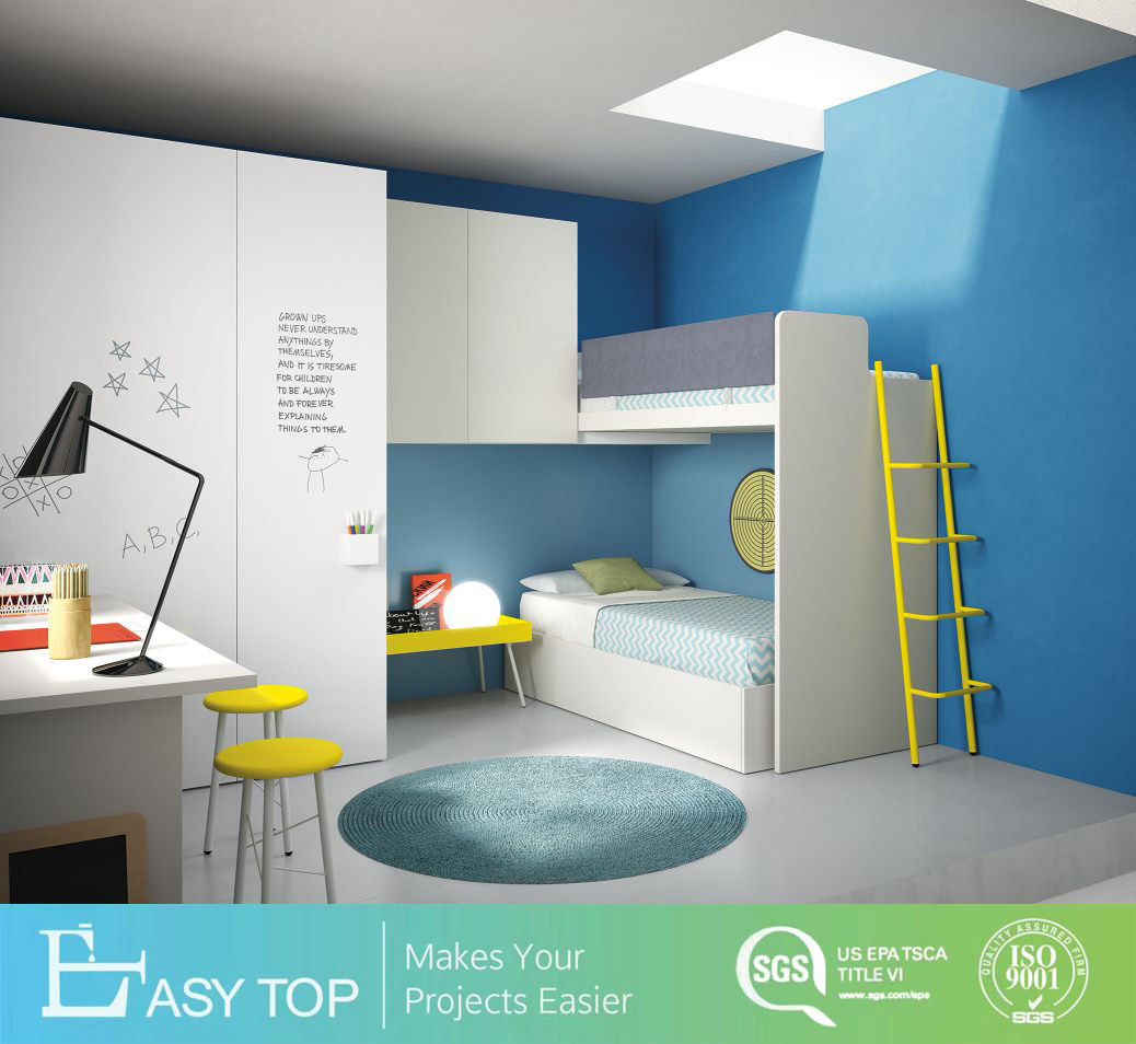 [Hot Item] Eco Friendly Modern Design DIY Bed, Study Table Kids Wardrobe
