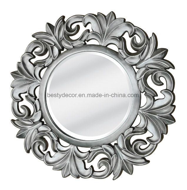 China Polyurethane Frame Round Decorative Mirror Wall China Mirror Wall Mirrors