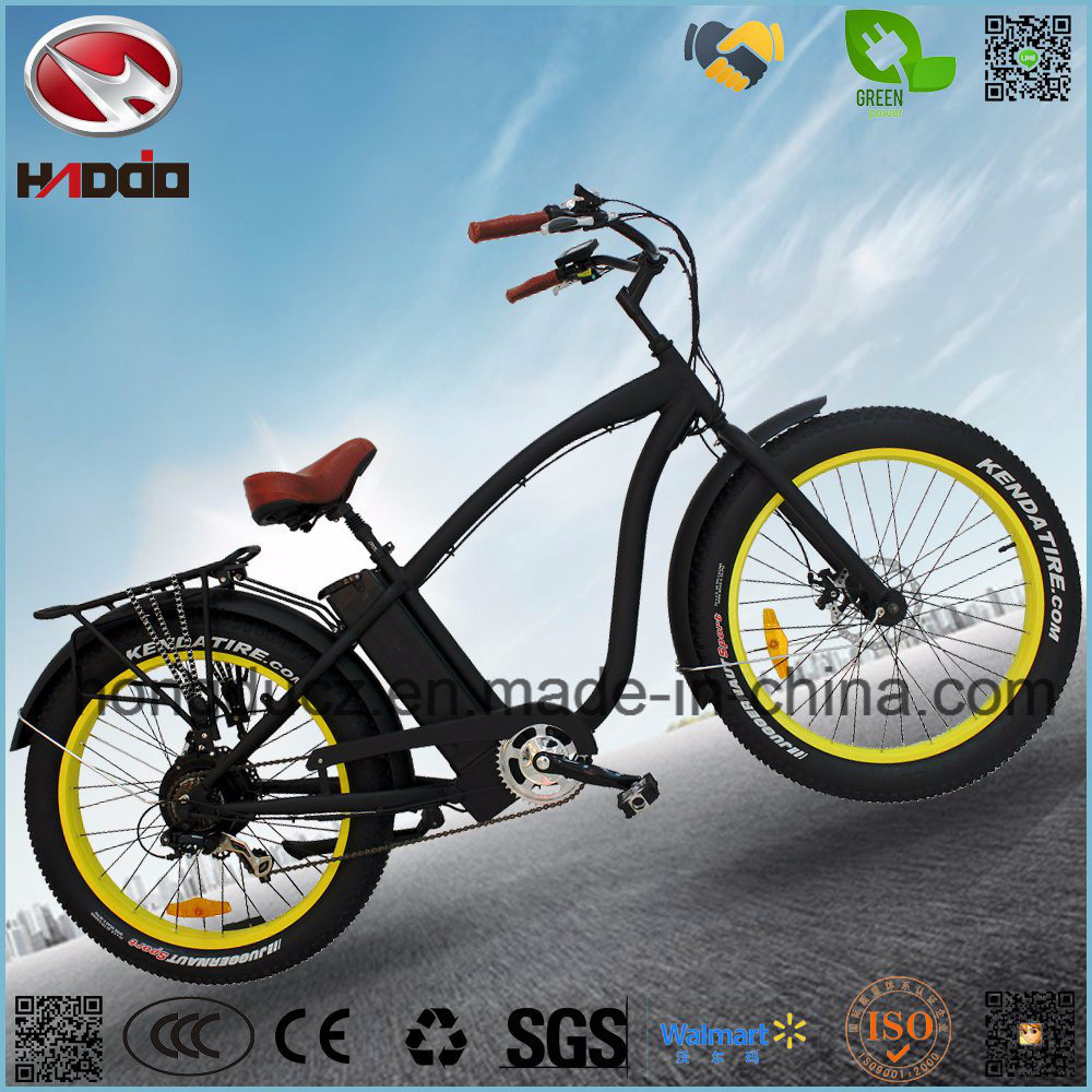 China Fat Tire Bike Electric Beach Bicycle With Lithium Battery