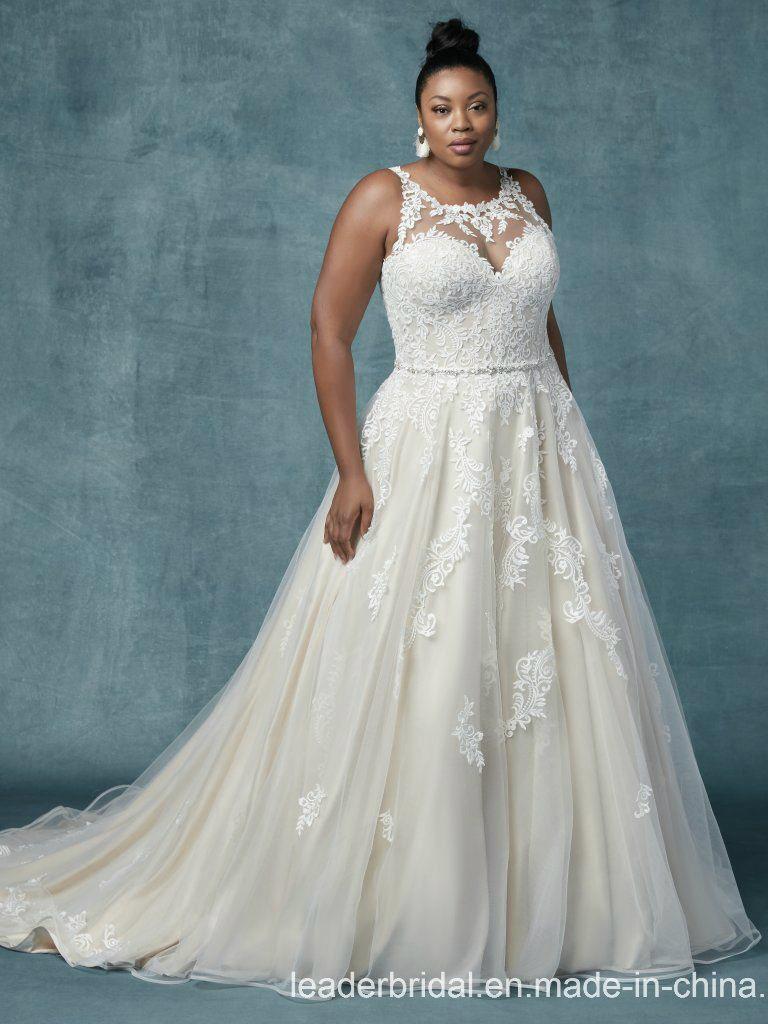 Champagne Plus Size Wedding Dress