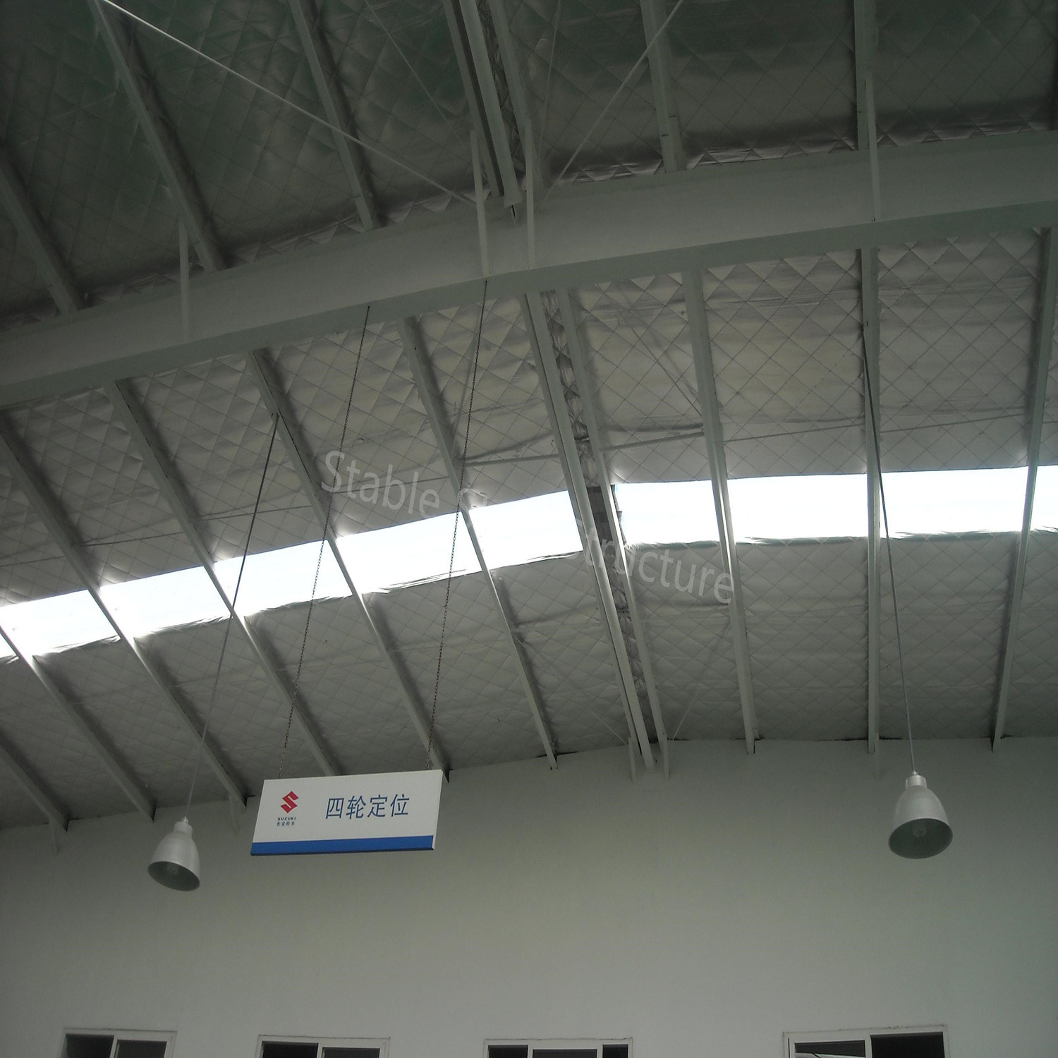 Prefabricated Commercial Steel Structure Shop With Modern Design