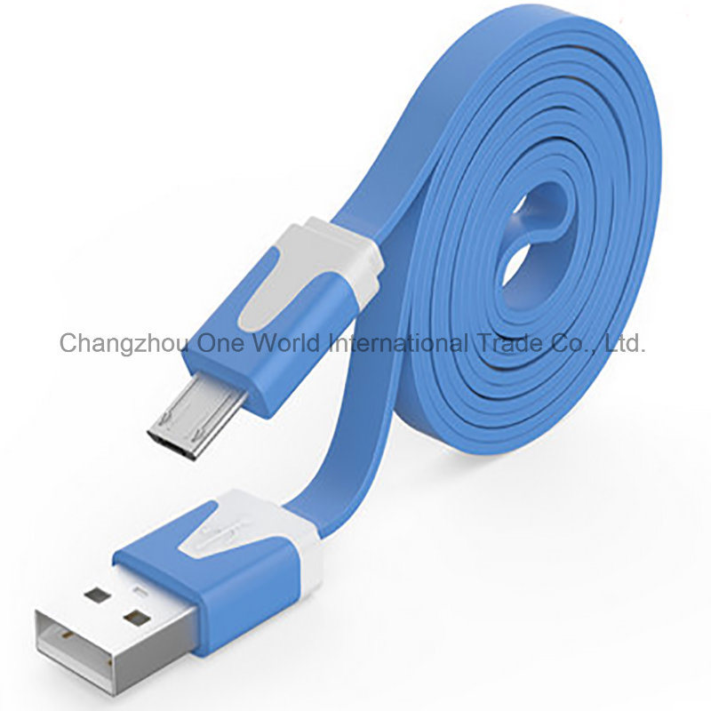 Charger&Transfer Data Flat Micro Colorful USB Cable pictures & photos