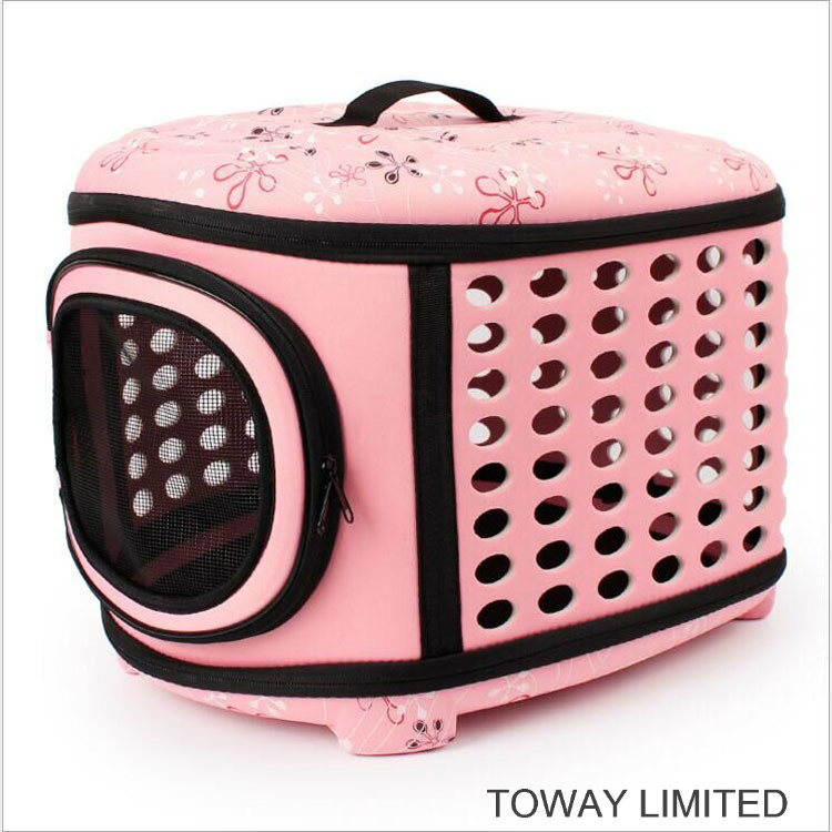 Foldable Shoulder Dog Bags Plastic Eco-Friendly Pet Outdoor Carriers pictures & photos