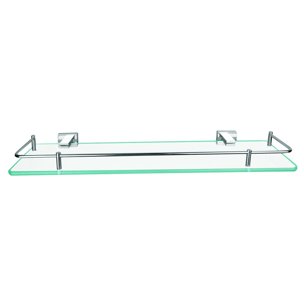 China Wall Mounted Bathroom Glass Shelf With Sus304