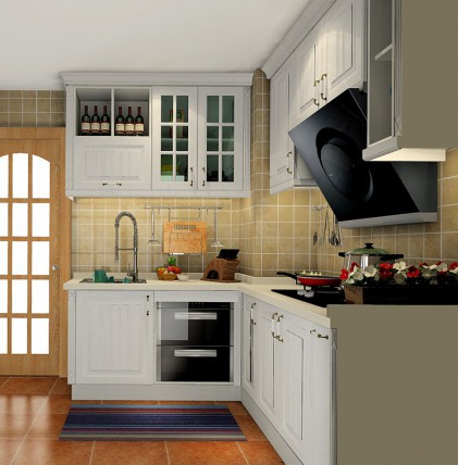 Simple Designs Wooden Kitchen Cabinet PVC Kitchen Cabinet