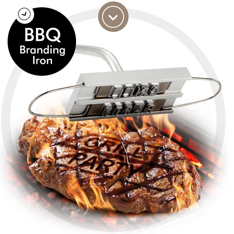 BBQ Branding Iron with Changeable Letters pictures & photos