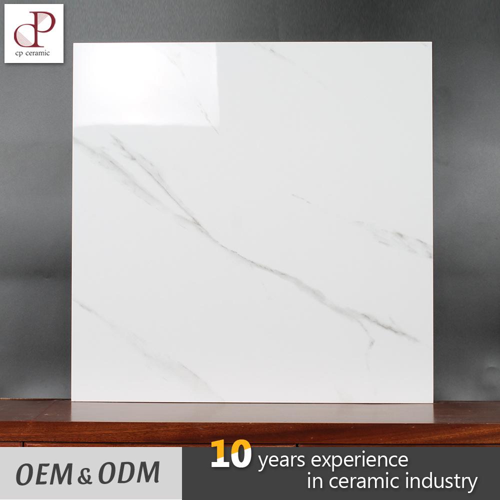 China Factory Price Carcara White Marble Design Glazed Porcelain