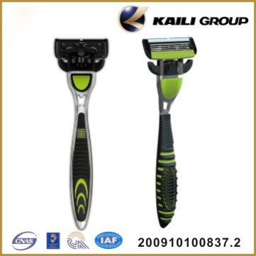 4 Blade Replaceable Head System Shaving Razor