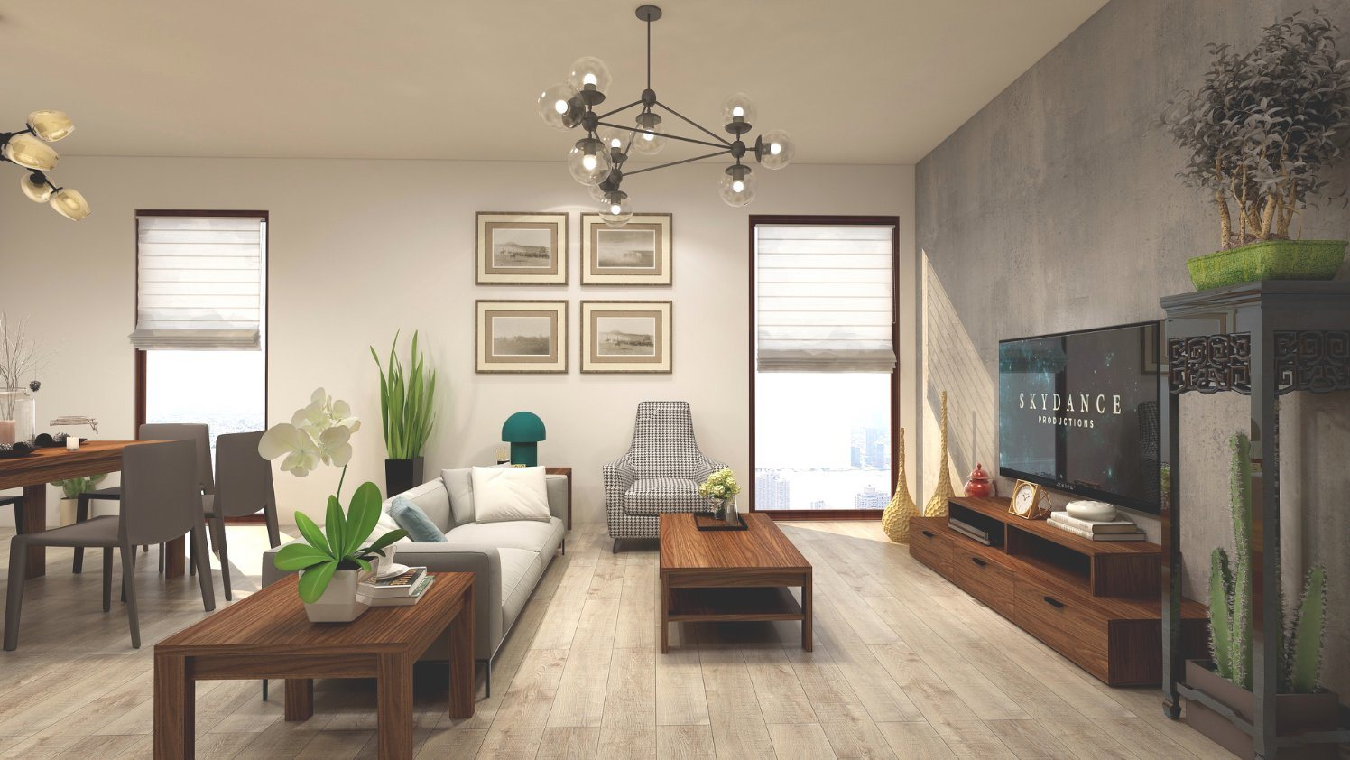 [Hot Item] Dark Walnut Wooden Furniture for Living Room