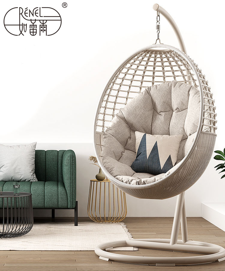 China Professional Factory Supplier Outdoor Indoor Rattan Garden Hanging Chair China Swing Chair Egg Pod Chair