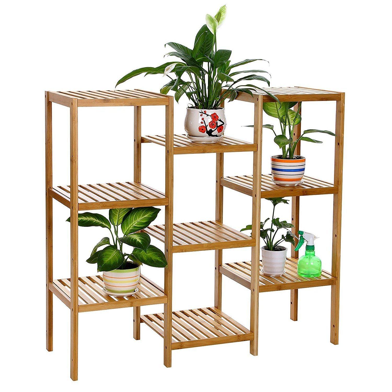 China Bamboo Multi Storage Corner Shelf Flower Plant Stand ...