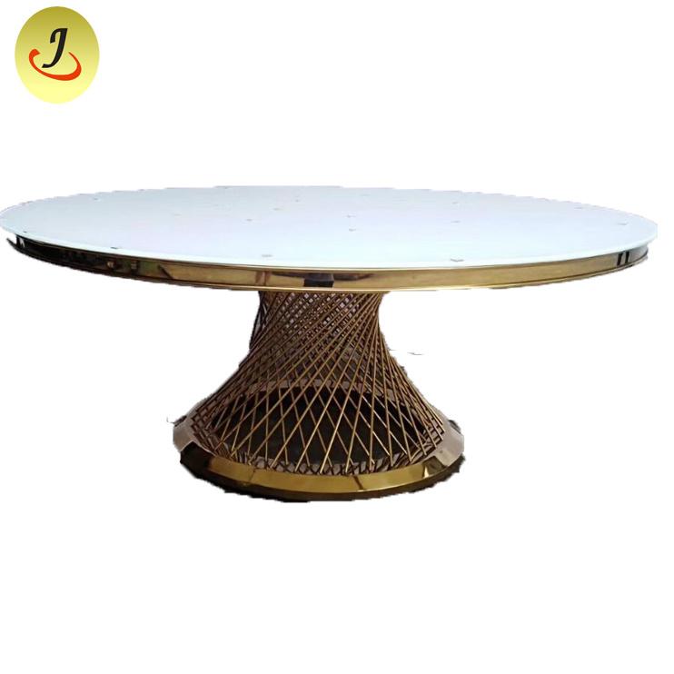 Golden Metal Base Round Dining