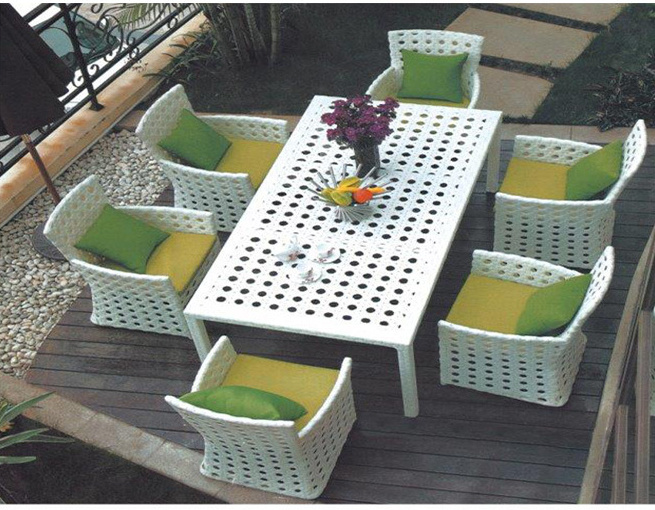 China Modern Garden Furniture Used Patio Synthetic Rattan Dining