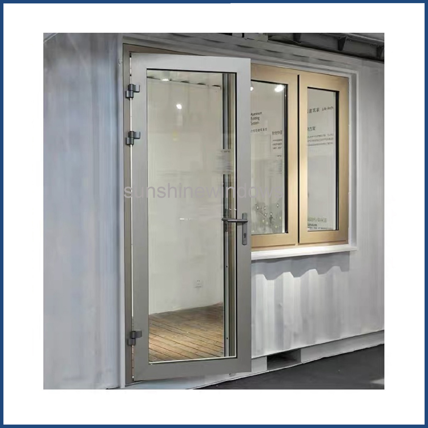 Hot Item Pvc Frame Frosted Glass Window And Door China Manufactory