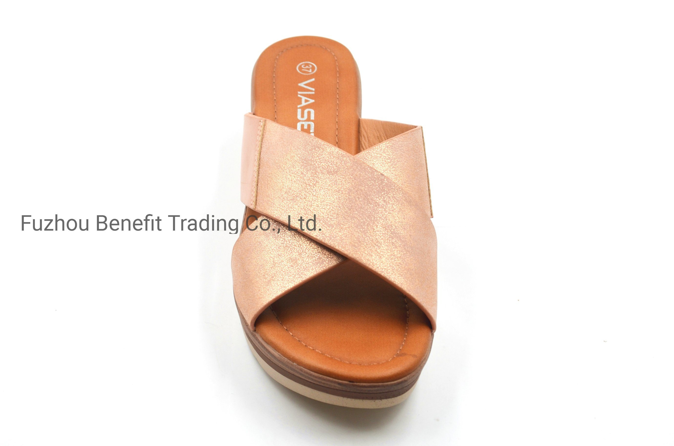 High Quality PU Upper and Wedge Heel Sandals for Ladys pictures & photos