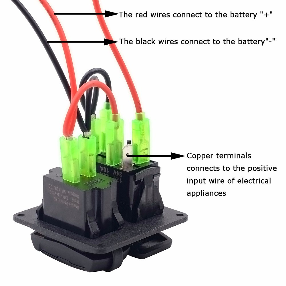 China Rocker Switch Zombie Light On Off Dual 42a Usb 12 Volt Round Illuminated Wiring Charger Led Voltmeter For 12v 24v Motorbike Boat Riding