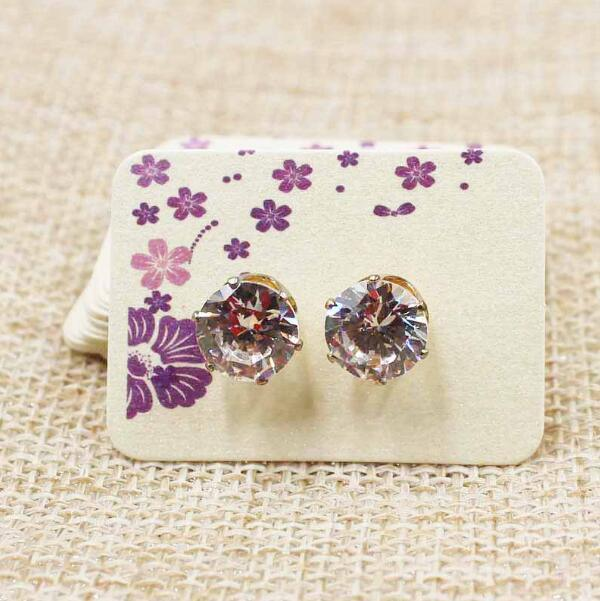 China New Design Earring Hang Tags In Guangzhou Retail Tag