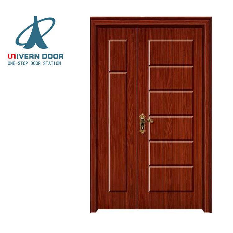 China Interior Wooden Glass Shaker Sliding Pocket Double Door For