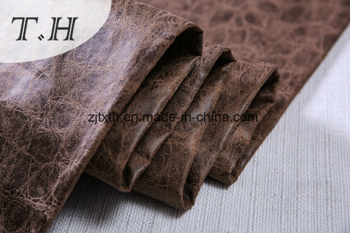 Embossed Suede Fabric Hot Stamping Design in China pictures & photos