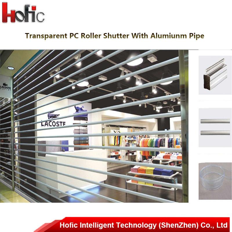 Commercial High Sd Glass Roller Shutter Door