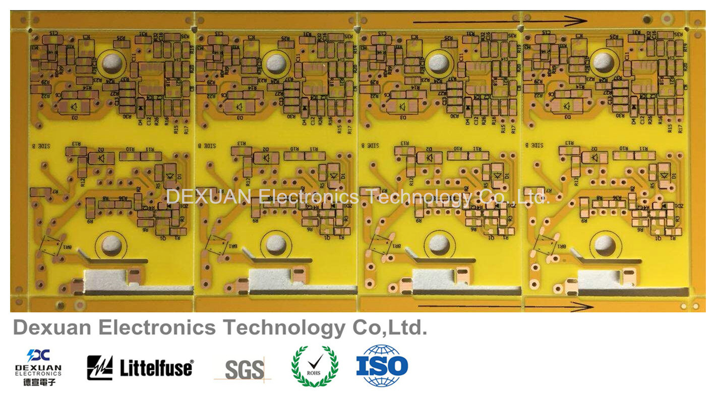 China Single Sided Printed Circuit Board Pcb With Yellow Solder Mask How To A Osp
