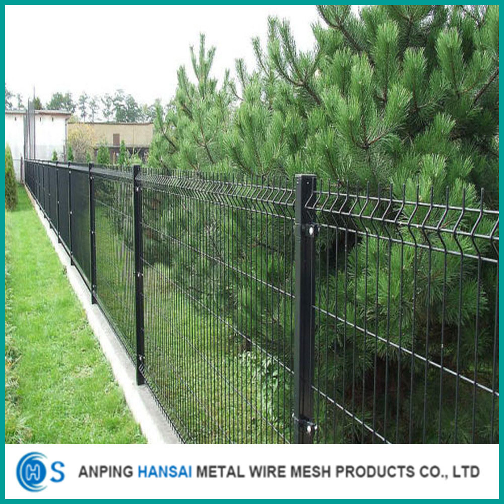 China Boundary Wall 3D Folded PVC Coated Welded Wire Mesh Fence ...