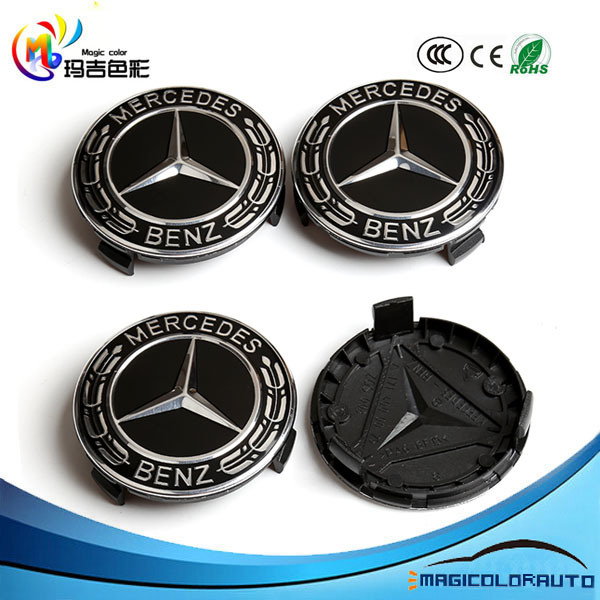 China Wheel Center Caps For Mercedes Benz 75mm China Mercedes Benz