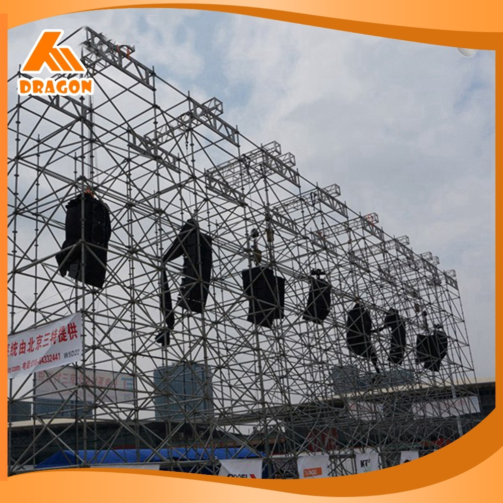 Hot Item Easy Install Stage Lighting Scaffolding Layer Truss For Line Array