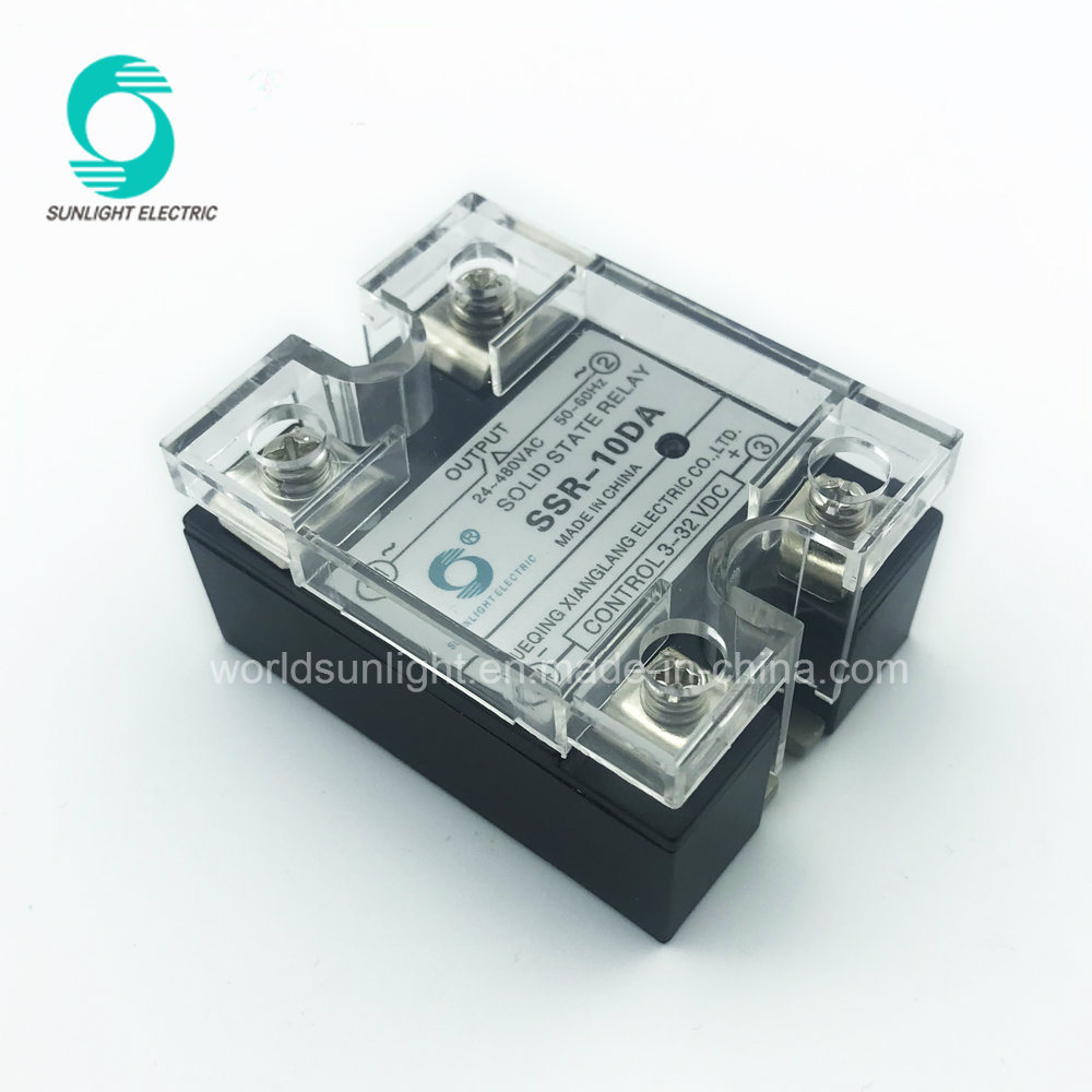 China Manufacturer Zero Crossing Ssr 10da 10amp 480v Solid State Circuit Relay Single Phase