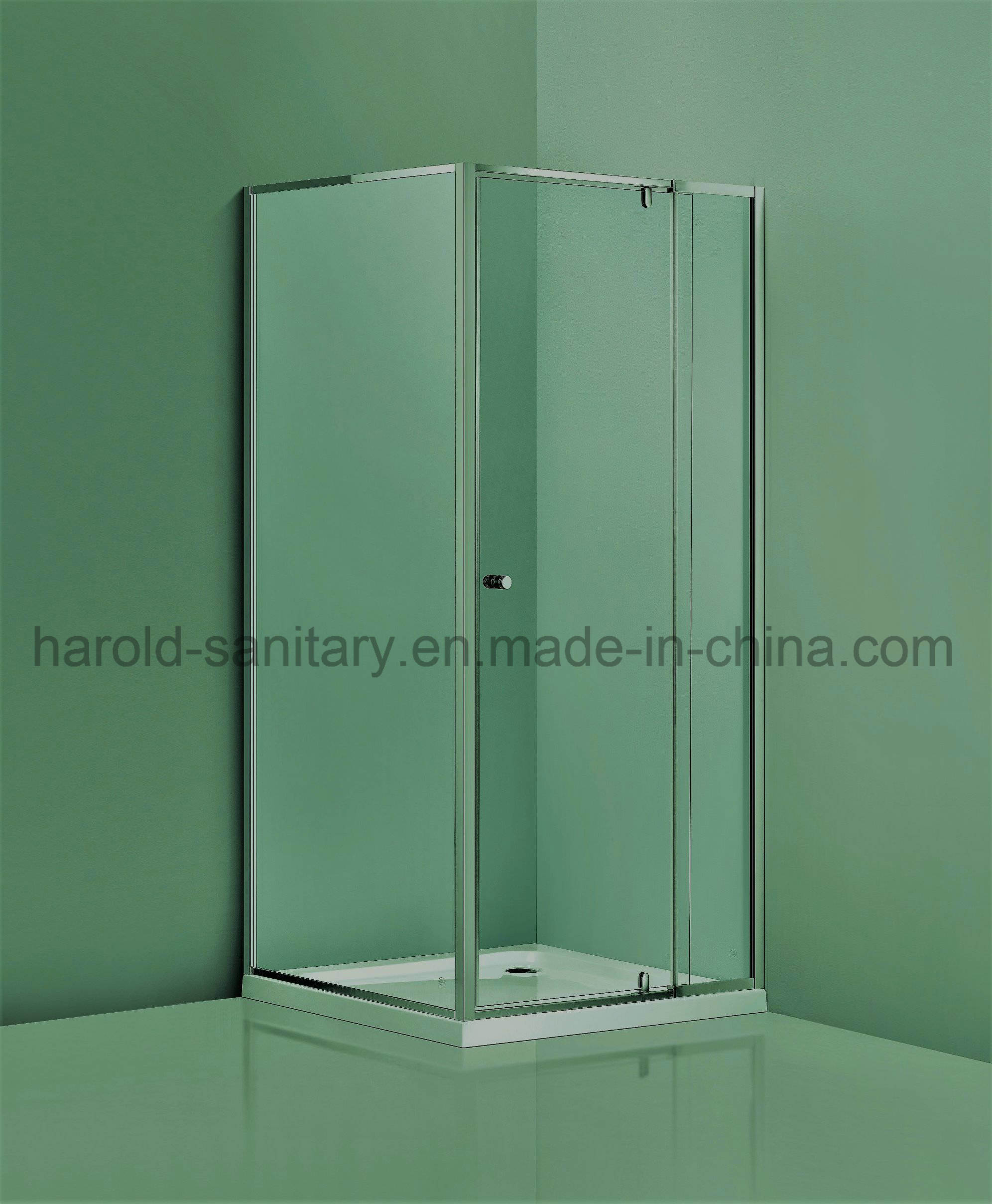 Hot Item Aluminium Frame Pivot Shower Door Wide Adjustment