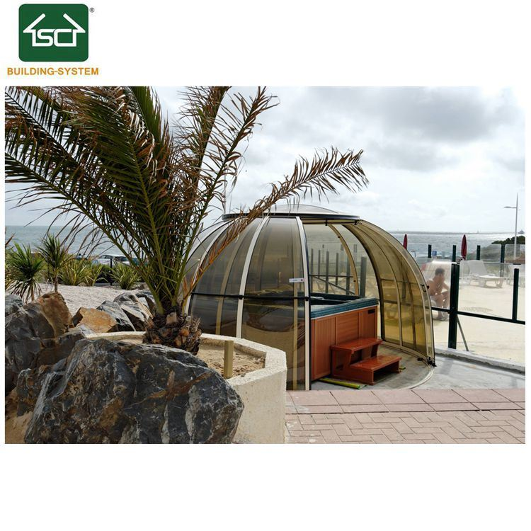China Indoor SPA Pool Cover Automatic Polycarbonate Hot Tub Cover ...