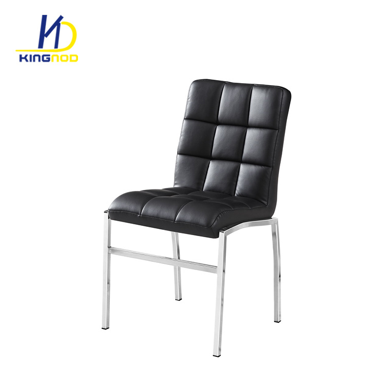 Awe Inspiring Hot Item Heavy Duty Classic Black Soft Pu Leather Covered Metal Frame Dining Room Chairs Inzonedesignstudio Interior Chair Design Inzonedesignstudiocom